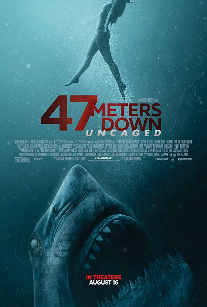 "Filmas ""47 metrai: įkalintos po vandeniu"" / ""47 Meters Down: Uncaged"" (2019)"