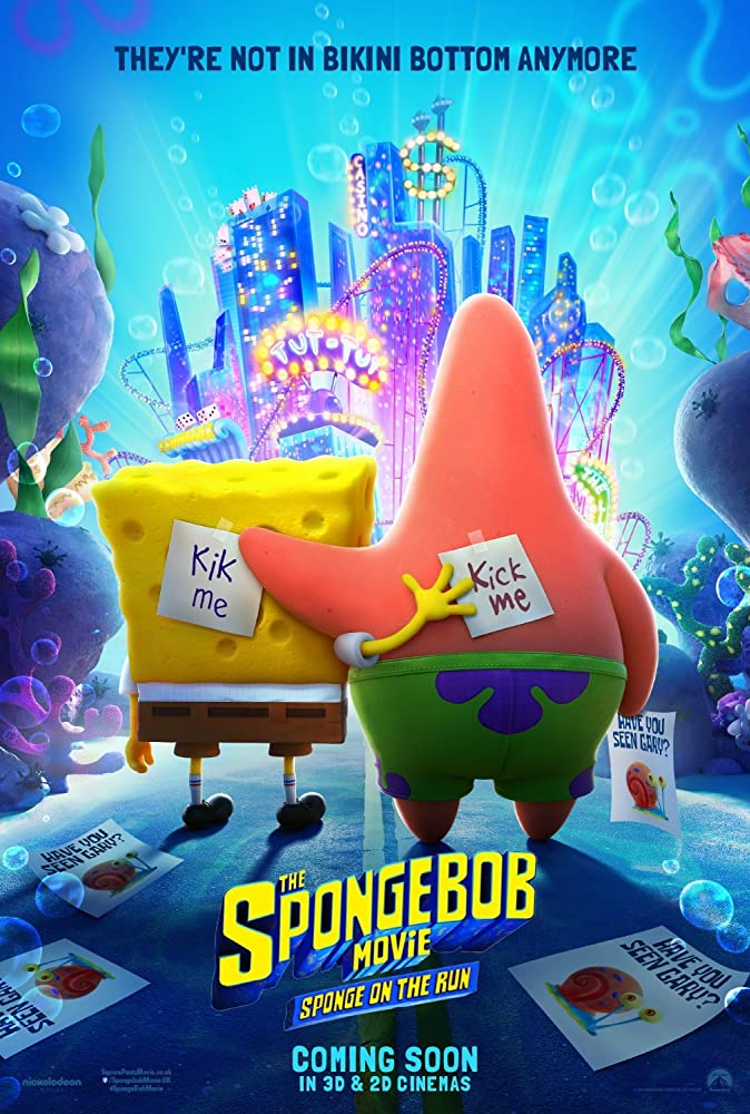 "Filmas ""Kempiniuko filmas: Bėganti kempinė"" / ""The SpongeBob Movie: Sponge on the Run"" (2020)"